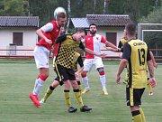 Poslední příprava: FK Spartak Kaplice (žlutočerné dresy) – SK Slávia České Budějovice 2:1 (1:1).