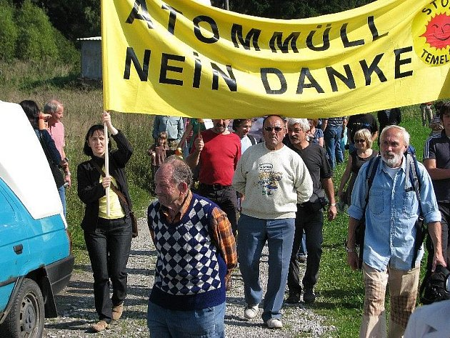 Happening Ne jadernému odpadu v Boleticích!
