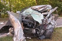 Dvě osobní auta a jedno nákladní havarovaly pod Netřebicemi.