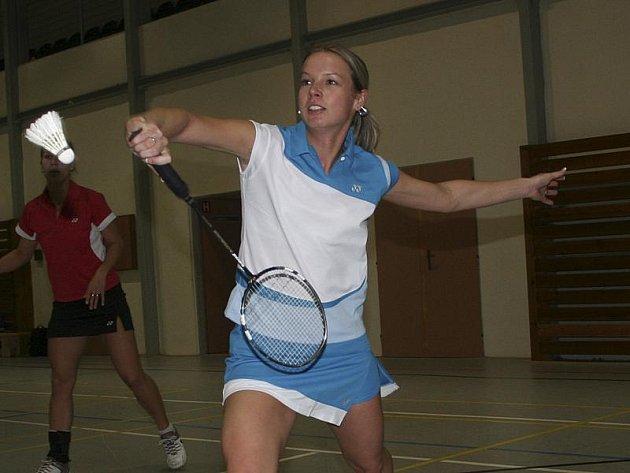Českokrumlovská ženská badmintonová jednička - zkušená Hana Milisová.