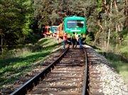 U Mříče na Českokrumlovsku se srazily dva osobní vlaky.