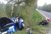 Nehoda u obce Zubčice si vyžádala dva životy