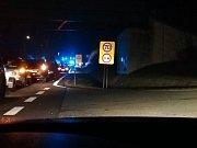 Foto z místa nehody z krumlovské facebookové skupiny na téma dopravy.