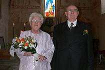 Zlatou svatbu oslavili v Polné manželé Miluše a Jiří Krejčí.