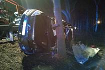 Dopravní nehoda u Stříteže na Kaplicku.