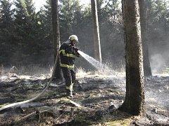 Požár na Granátníku u Srnína.