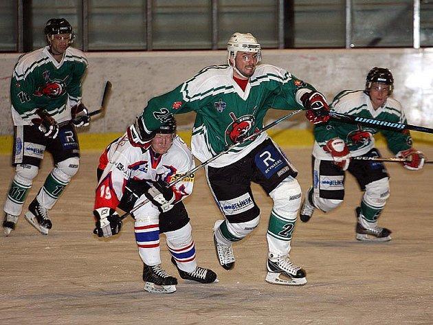 Hokejové utkání krajské ligy mužů / HC Slavoj Český Krumlov - HC David servis České Budějovice 2:3 SN.
