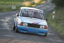 Pavel Stráský na trati Historic Vltava Rallye 2007.