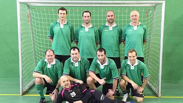 Vítězové silvestrovského turnaje v Horní Plané - posílený tým Sokola Kájov.