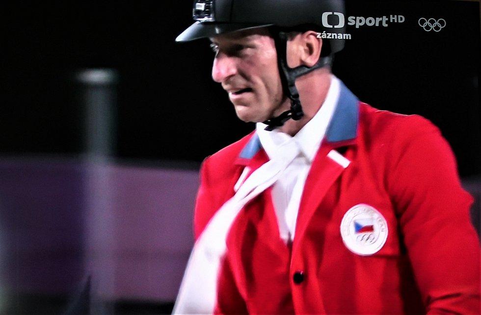Kamil Papoušek musel na olympiádě v Tokiu závod v soutěži jednotlivců předčasně ukončit.