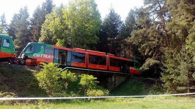 Srážka vlaků u Mříče na Krumlovsku