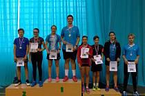 Českokrumlovští badmintonisté ovládli krajský přebor věkových kategorií od 11 a 17 let.