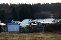Takto vypadá právě dokončovaná fotovoltaická elektrárna v těsné blízkosti obce Světlík.