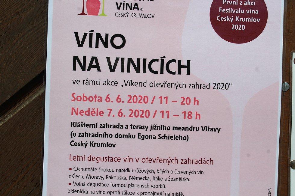 Víkend oteveřených zahrad v Českém Krumlově.