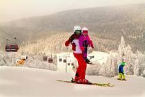 Spokojení lyžaři na Hochfichtu.