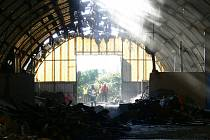 Požár obecního skladiště ve Větřní