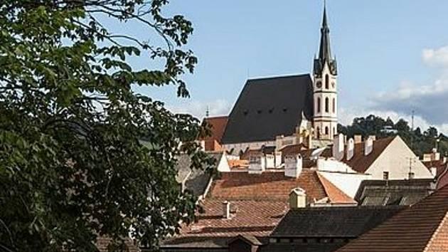 Kostel sv. Víta v Českém Krumlově.
