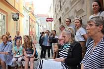 Čtení hezky česky v Krumlově.