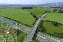 Na D3 se napojí přeložená I/39, která nově povede z Rájova kolem Horního Třebonína a Prostředních Svinců.