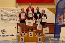 Krumlovská badmintonistka Eva Fišerová obsadila na MČR do 13 let třetí příčku ve dvouhře.