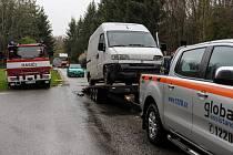 Středeční nehoda na křižovatce pod Velešínem.