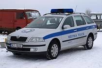 Nový vůz kaplických strážníků.