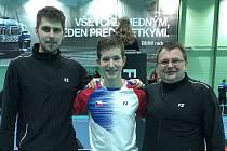 Krumlovští badmintonisté na turnaji Slovak Open v Trenčíně.