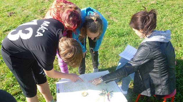 Branně - orientační závod si užily děti v Malontech.