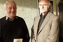 Zdeněk Duffek (vlevo) a Václav Dolanský, autoři knihy Malše, romantická kráska.