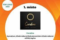 Vítězné logo kaplické studentské firmy Coraline, jež získalo první místo v Jihočeském kraji.