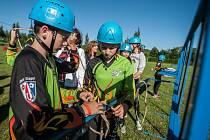 Krajské kolo hry Plamen mladých hasičů Jihočeského kraje v Kaplici.