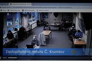 Zasedání městského zastupitelstva v Českém Krumlově.