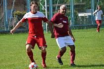OP muži – 4. kolo (3. hrané): FC Romo Český Krumlov (vínové dresy) – Sokol Křemže 1:10 (0:6).