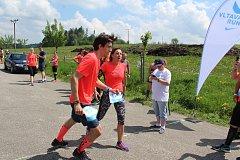 Závod Vltava Run po cyklostezce kolem Lipna na Hornoplánsku a v Černé v Pošumaví.