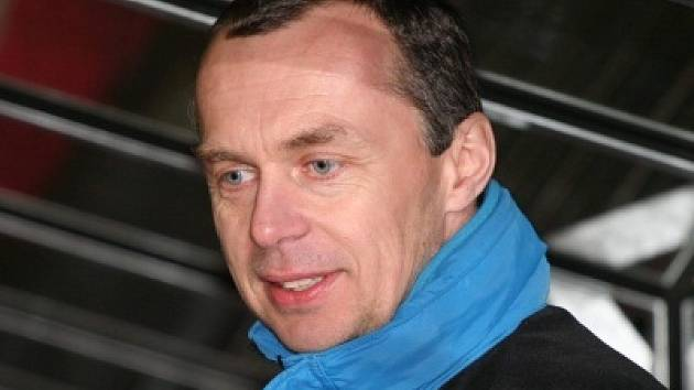 Trenér HC Slavoj Český Krumlov Rudolf Marek.
