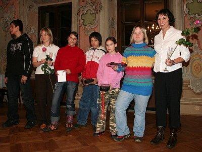 Mezi oceněné v nově vypsané kategorii Nejpozoruhodnější výkony Českokrumlovska roku 2007 patřili plavci ZŠ Kaplická Český Krumlov.
