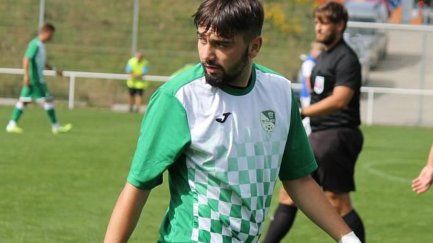 Dominik Tůma se postaral o jedinou trefu Českého Krumlova v duelu s FK Lažiště.