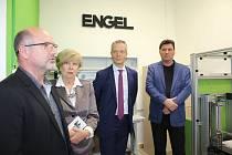 Slavnostní otevření showroomu firmy Engel ve velešínské střední škole.