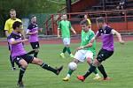 KP – vložené 16. kolo: FK Slavoj Český Krumlov (zelené dresy) – SK Jankov 1:2 (0:1).