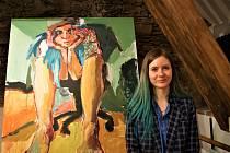 Výstava Mony Kiele: The Look je do poloviny března k vidění ve Velešíně v galerii Jakub.