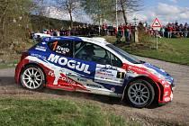 Úřadujícím mistrům republiky Romanu Krestovi a Petru Grossovi (na snímku z Rallye Šumava) patří po dvou letošních závodech vedoucí příčka celkového pořadí. Do Českého Krumlova posádka Peugeotu 207 S2000 Mogul Racing Teamu přijíždí obhajovat loňský triumf.