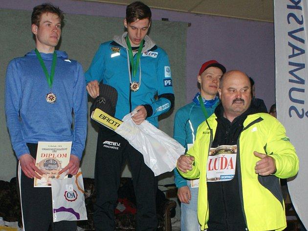 Starosta Bujanova Luděk Detour při Koláčových závodech v běhu.