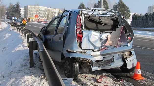 Čtvrteční nehoda u Kaplice.