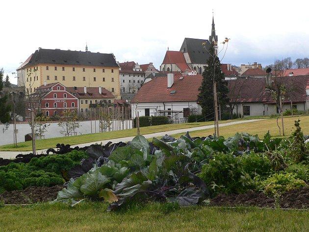 Klášterní zahrada v českém Krumlově.