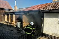 Požár v kotelně v Nové Vsi.