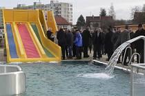 Otevření nového koupaliště ve Velešíně.