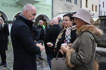 Setkání s hejtmanem Martinem Kubou se uskutečnilo v Českém Krumlově.