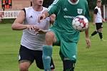 OP muži – 3. kolo (2. hrané): Sokol Křemže (bíločerné dresy) – FK Nová Ves / Brloh 0:0, na penalty 1:4.