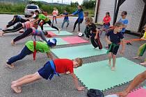 Oddíl taekwon-do bude ve Velešíně trénovat venku.