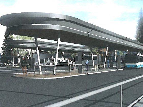 Vizualizace budoucí podoby velešínského nádraží.
